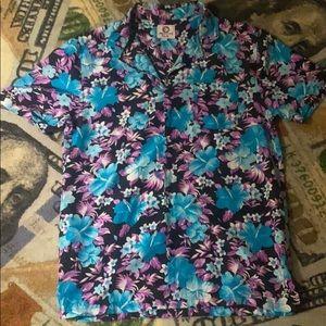 Purple and blue Hawaiian Shirt